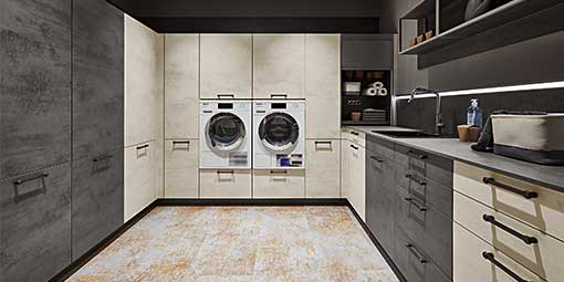 Modern Contemporary Laundry room European Cabinetry in California